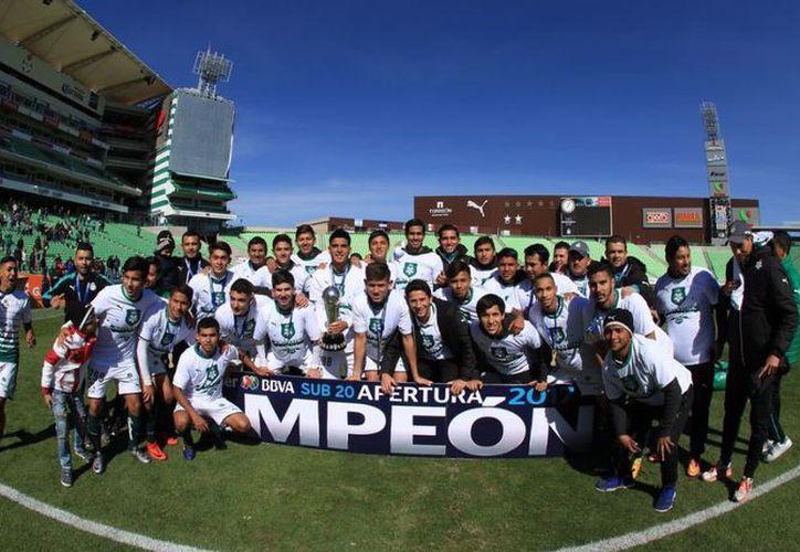 Santos se corona en el Torneo Apertura Sub 20 de la Liga MX con global de 1-0 sobre Atlas en el TSM de Torreón. (Foto: Televisa)