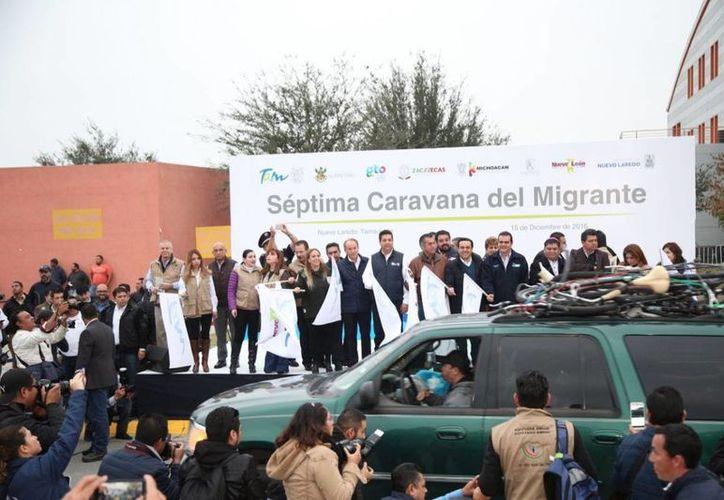 En Nuevo Laredo, las autoridades recibieron a los migrantes y garantizaron que llegarán con bien a casa. (Gobierno del Estado de Tamaulipas)