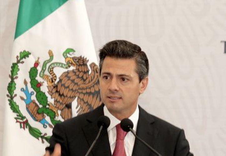 Peña Nieto emitió un discurso en el marco del XCVIII aniversario de la Promulgación de la Ley Agraria de 1915. (Notimex)