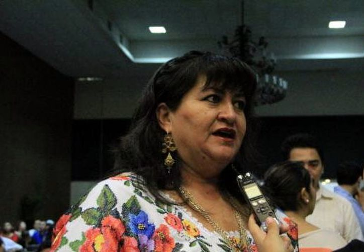 Carmen Navarrete Navarro, ex alcaldesa priista de Tekax. (Foto: Milenio Novedades)