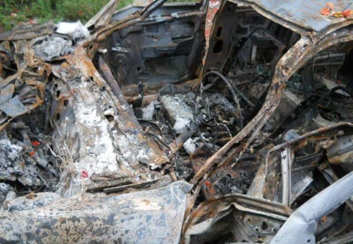 El accidente se dio en el km 211 más 100 del tramo carretero Catzin- Xcan. (SIPSE)