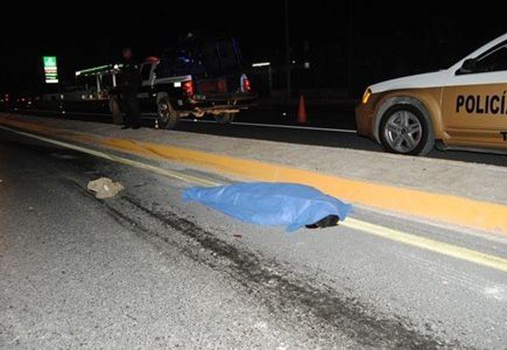 Una de las causas de muerte más recurrentes en 2012 fue la producida en hechos de tránsito: la cifra llegó a 78 decesos. (Redacción/SIPSE)