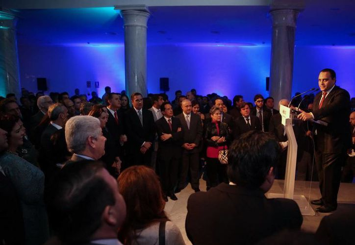 En su discurso, Roberto Borge Angulo, pidió aprovechar al máximo las bondades de Quintana Roo, en especial las opciones para practicar turismo de aventura y las convenciones. (Redacción/SIPSE)