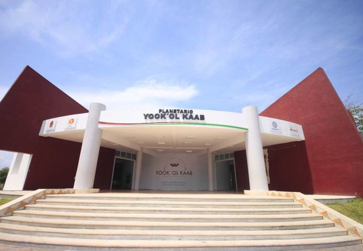 """Para la construcción del planetario """"Yook' ol Kaab"""" se hizo una inversión de 28 millones de pesos. (Benjamín Pat/SIPSE)"""