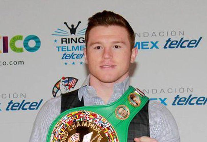 Saúl 'Canelo' Álvarez es el Boxeador del Año, según el Consejo Mundial de Boxeo (CMB). (Archivo/NTX)