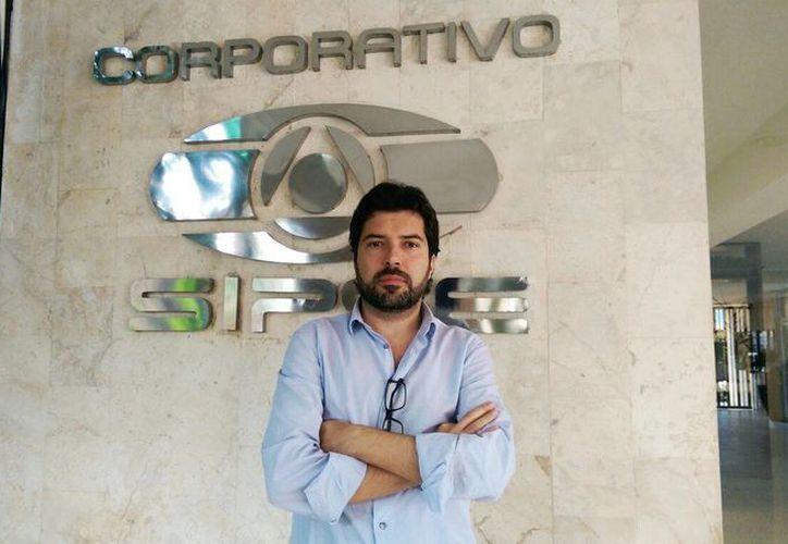 El presidente de la Asociación de Fútbol-Tenis en México, Juan Pablo Ortuño, anunció que Yucatán será sede del Campeonato de Futbol -Tenis de la FTA, el próximo mes de marzo. (Marco Moreno/SIPSE)