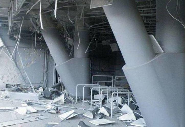 El estadio Donbass Arena, del club ucraniano Shaktar Donetsk, ha sido objeto de bombazos en dos ocasiones en menos de dos meses. (mdzol.com)