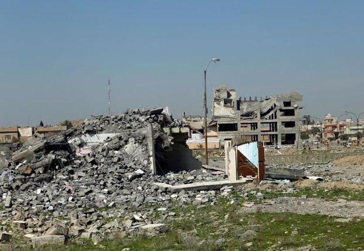 Casas bombardeas en Mosu, Irak (El País)