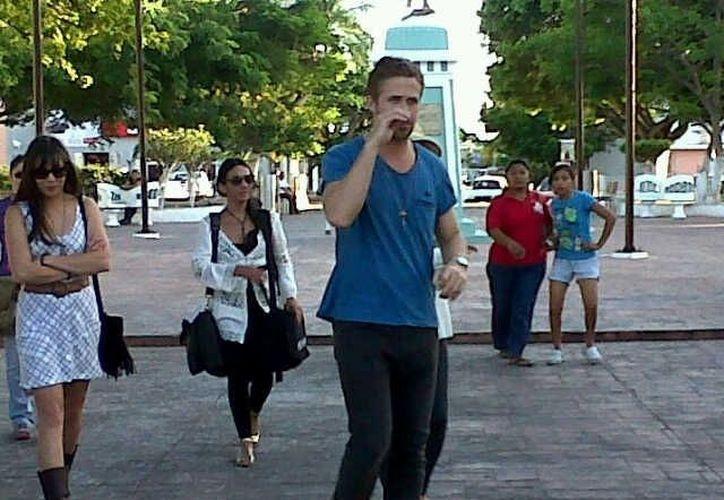 Ryan Gosling en el centro de Progreso. (Cortesía)