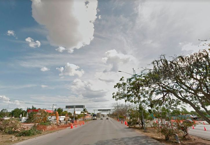 Policías tuvieron una experiencia paranormal cerca del entronque a Tixkokob, en el periférico de Mérida (foto: Google street view)