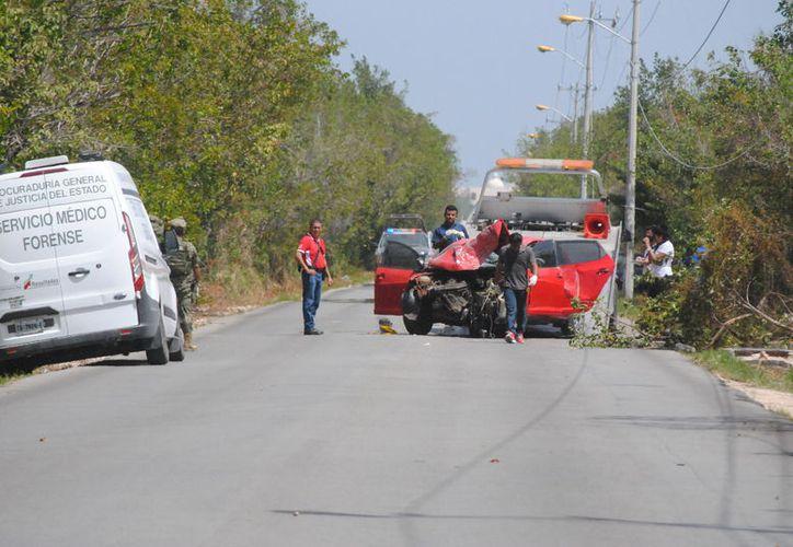 Fue detenido luego de haber chocado un vehículo rojo. (Eric Galindo/SIPSE)