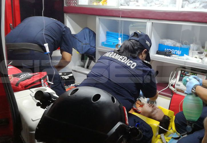 El estado de salud del trabajador fue reportado como grave. (Martín González/SIPSE)