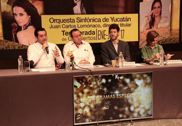 La nueva temporada de la OSY contará esta vez con Sebastián Kwapisz, de la Filarmónica de la UNAM, y con Abel Pérez, primer clarinete de la Orquesta filarmónica de Xalapa, entre otros grandes artistas. (Jorge Acosta/SIPSE)