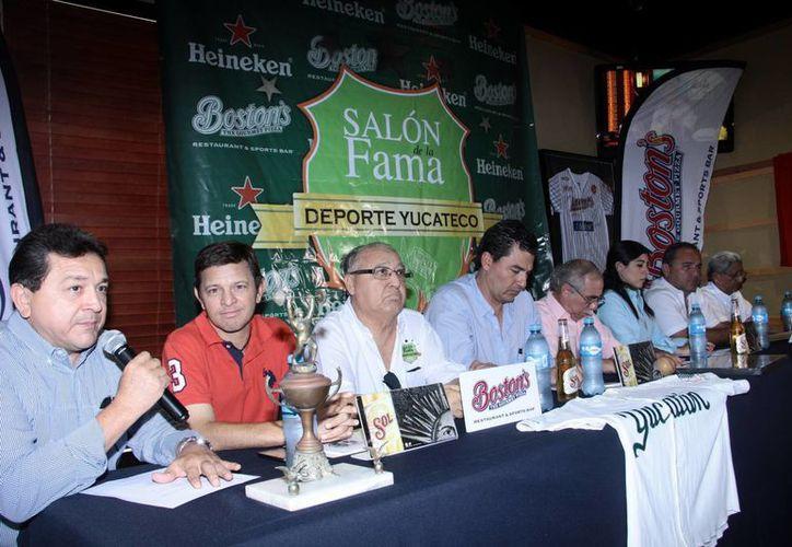 Imagen de la rueda de prensa cuando se realizó la presentación del Salón de la fama del deporte yucateco el pasado mes de junio. (Archivo/SIPSE)