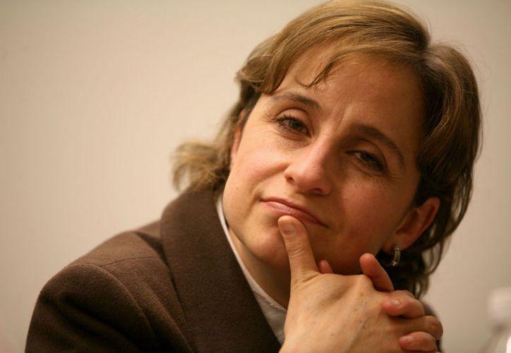 Carmen Aristegui es conocida por profundizar y analizar temas fuertes. (Foto: Octavio Gómez)