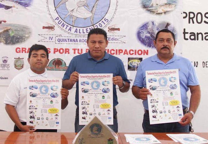 El torneo de pesca  fue presentado ayer a los medios de comunicación. (Cortesía)