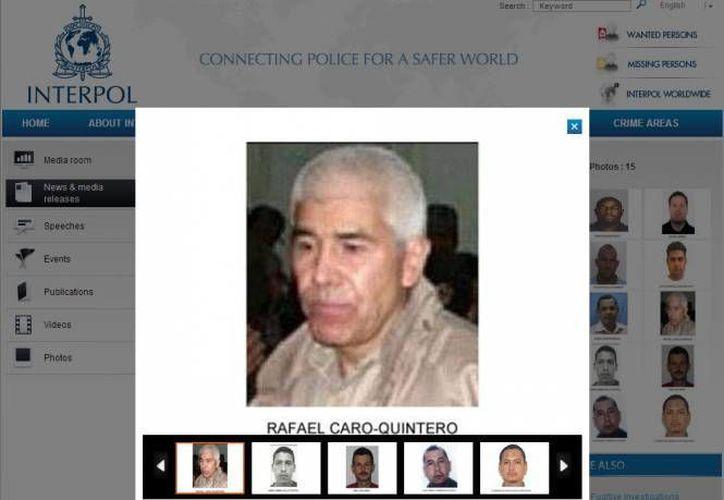Estados Unidos ofrece una recompensa de cinco millones de dólares por Rafael Caro Quintero, ligado a empresas que realizan lavado de dinero. (Archivo/SIPSE)