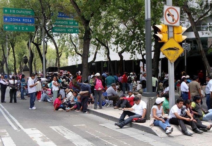 Las manifestaciones en Bucareli pueden durar apenas unos minutos... o prolongarse por meses. (Archivo SIPSE)