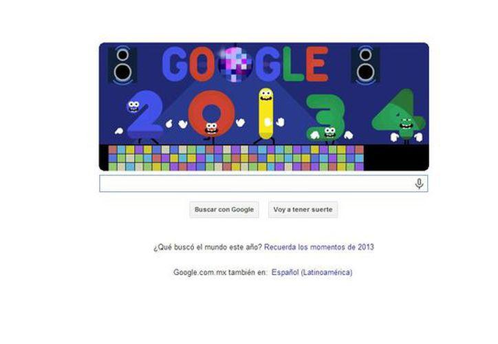 """En el doodle, prevalecen los colores psicodélicos y una bola disco que sustituye una """"o"""" del nombre del buscador. (google.com)"""