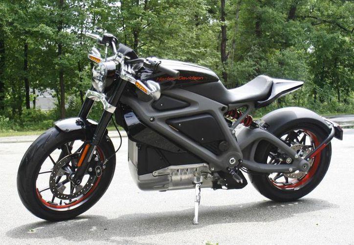 La nueva moto eléctrica de Harley-Davidson fue presentada en el centro de pruebas de la compañía en Wauwatosa, Wisconsin.