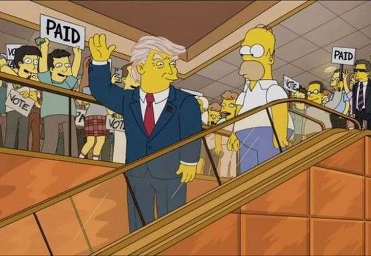 Los creadores de los Simpson lanzan un avance de la temporada número 27 , en la que Homero burla a Donald Trump por sus declaraciones contra de los migrantes mexicanos. (Excélsior)