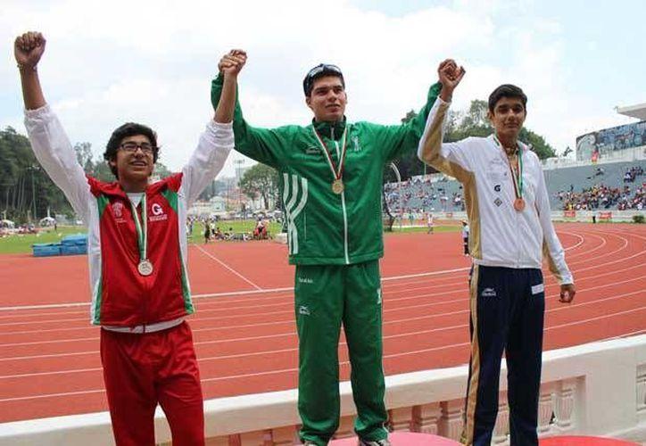 Los atletas yucatecos han logrado colgarse tres oros, una plata y cinco bronces en la Olimpiada Nacional en Xalapa. (idey.gob.mx)