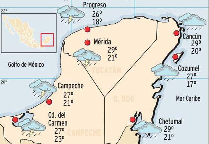 Se prevén lluvias con chubascos y actividad eléctrica en Quintana Roo. (Redacción/SIPSE)