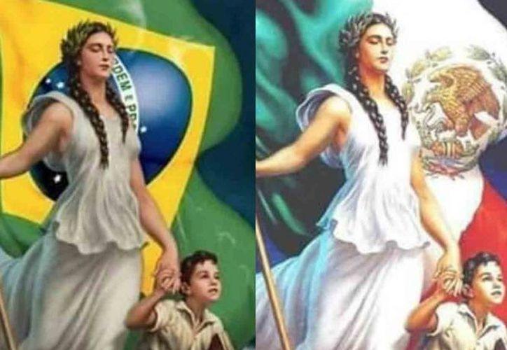 Acusan en redes a Brasil por presunto plagio de pintura mexicana. (Foto: Twitter)