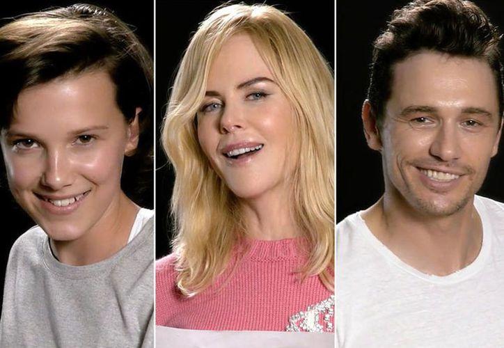 Famosos como Kidman, Millie Bobby y James Franco se esfuerzan por ponerle drama a la canción. (Foto: Excélsior)