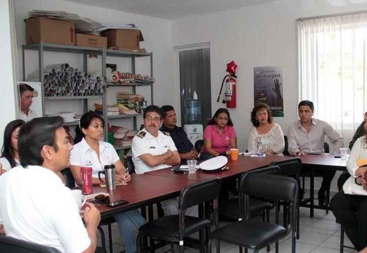 La reunión del Comité Municipal Contra las Adicciones. (Cortesía/SIPSE)