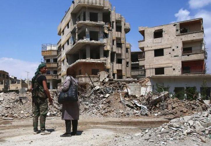 Desde hace cinco años, el ejército sirio asediaba la ciudad de Duma. (El País)