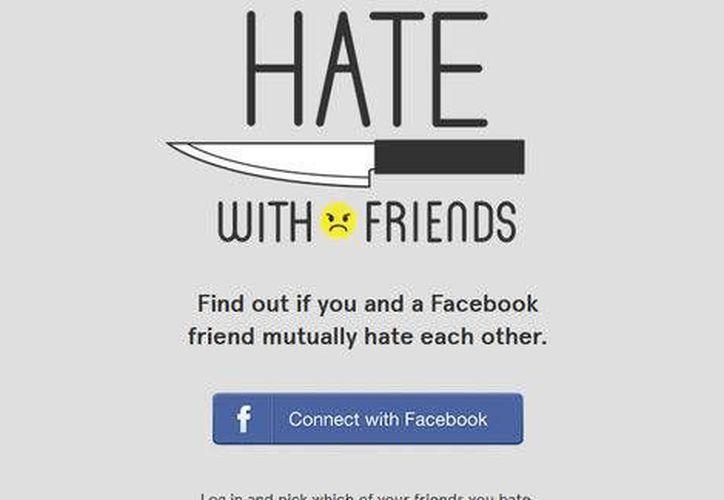 La app Hate With Friends permite saber si uno de los contactos de Facebook odia al usuario. (Milenio)