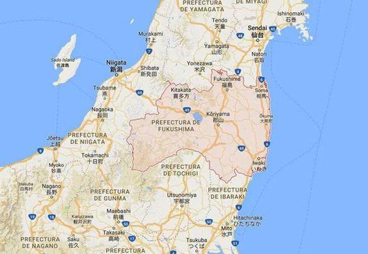 Un sismo de magnitud 5.6 sacudió hoy la prefectura nipona de Fukushima, al noreste de Japón, sin que se activara la alerta de tsunami, informó la Agencia Meteorológica nipona (JMA).(Foto tomada de Google Maps)