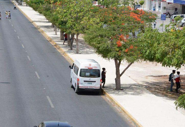 Los transportes que operan de manera ilegal son detenidas por no tener los permisos correspondientes. (Victoria González/SIPSE)