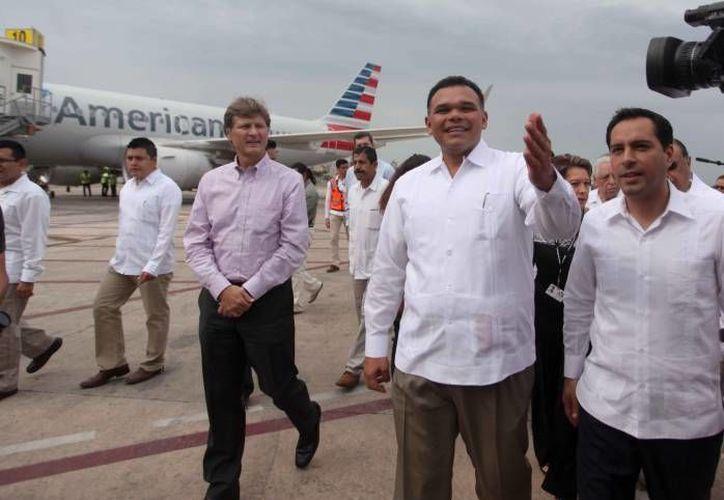 Este miércoles, el Gobernador del Estado, Rolando Zapata Bello, estará presente en la recepción del vuelo Monterrey-Mérida-Guadalajara, en el Aeropuerto Internacional de Mérida. (Archivo Milenio Novedades)