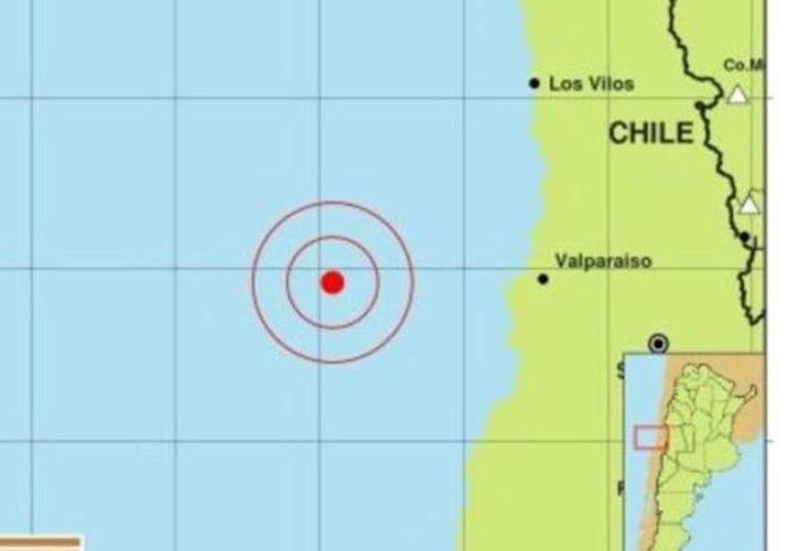 Un sismo de 6.9 grados en en la escala Richter sacudió la costa de Chile esta tarde.  (Clarín.com)
