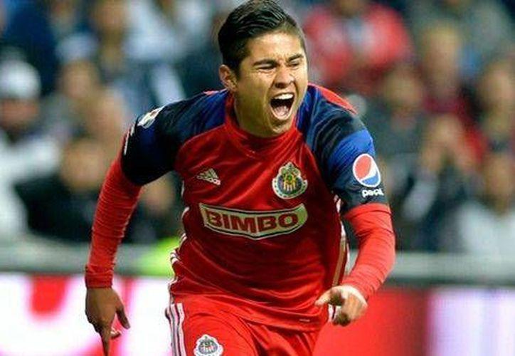 'Chofis' López ha cautivado a la afición de Chivas, luego de sus goles frente a Monterrey y Pumas.(Notimex)