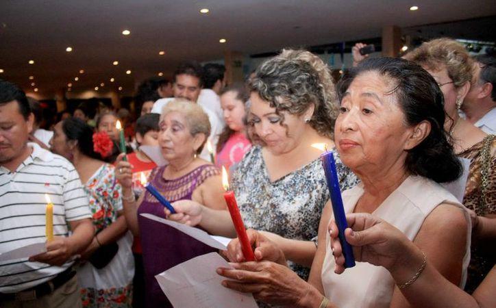 El objetivo de la pastorela es que la comunidad reflexione y conviva en un ambiente familiar. (Jorge Acosta/SIPSE)