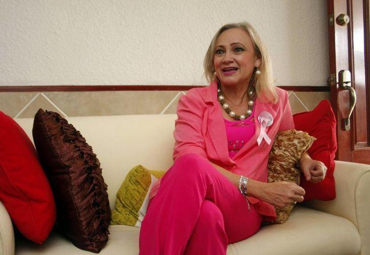 María Patricia Cabrera Rivero es la directora ejecutiva de 'Contacto', asociación que otorga prótesis mamarias y otros apoyos a mujeres que sufrieron la extirpación del seno debido a cáncer. (SIPSE)