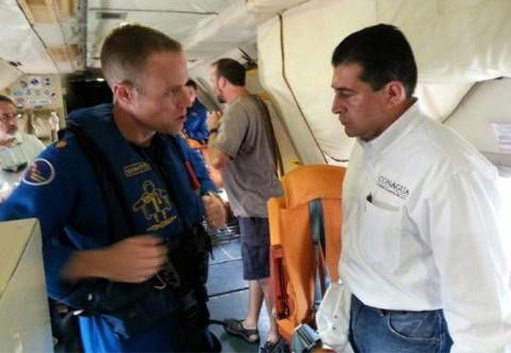 El vuelo servirá para determinar la posición, intensidad y trayectoria de ciclones tropicales.  (Fotos: Conagua)