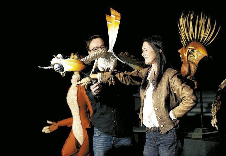 La creadora estuvo atenta al montaje del musical El rey león en la Ciudad de México. (Milenio)