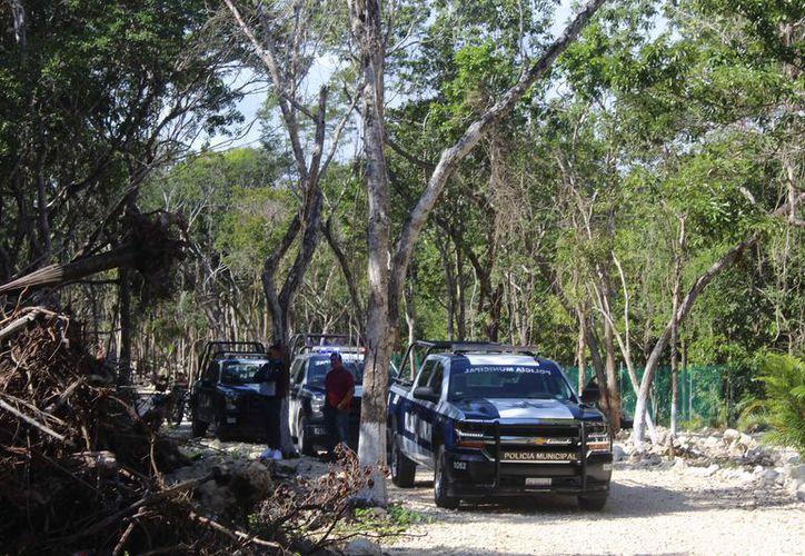 La Policía Municipal logró detener a 40 sujetos que intentaron invadir. (Sara Cauich/SIPSE)