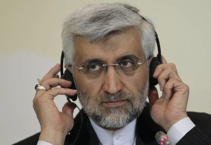 Saeed Jalili, secretario del Consejo de Seguridad Nacional de Irán atiende a preguntas. (Agencias)