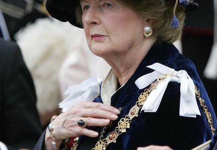 Margaret Thatcher estuvo en el poder entre 1979 y 1990. (Agencias)