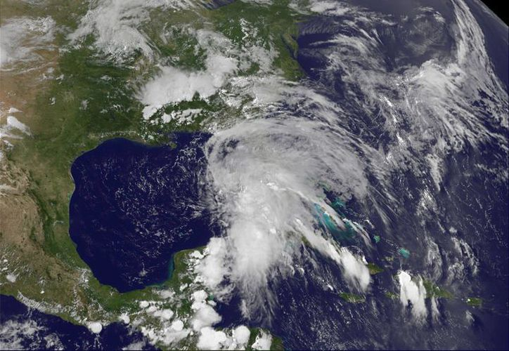Imagen satelital de Andrea, la primera tormenta de la temporada del Atlántico. (Agencias)