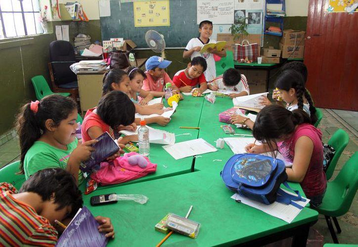 """Después de las clases """"normales"""" se realizan diversas actividades. (Christian Ayala/SIPSE)"""