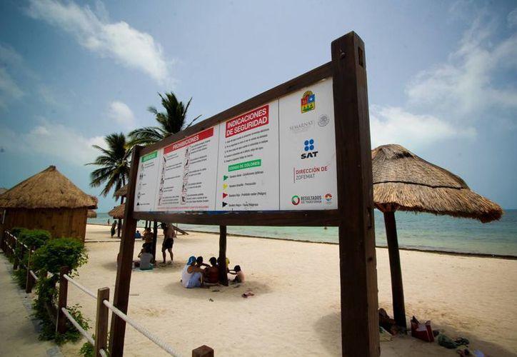 Las playas con galardón en Cancún son: Delfines, Chac Mool, Las Perlas, Marlín, Ballenas y El Niño. (Redacción/SIPSE)
