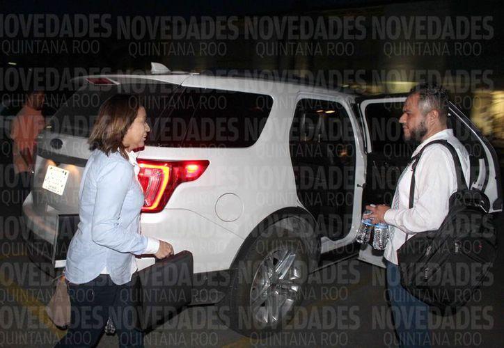 La ex funcionaria fue trasladada desde la madrugada de ayer al Cereso de Chetumal. (Benjamín Pat/SIPSE)
