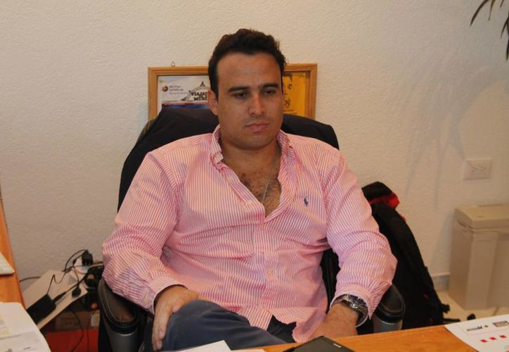 Augusto Bojórquez  Wolfskill, gerente general de ventas de Magnicharters. (Israel Leal/SIPSE)