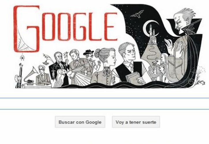 Google hace un homenaje a Bram Stoker al cumplirse 100 años de su fallecimiento. (www.google.com.mx)